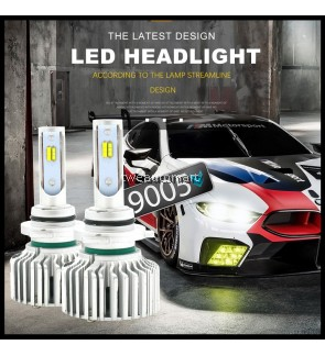 3 Color Switch  LED Headlight 9005 HB3 3000k 4300K 6000K 8000LM Fog Light 3C Car LED Headlight Bulbs Daytime Running
