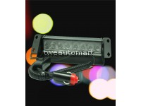 TYPE-R 8 LED 1W Super Bright Red & Blue Police Flashing Strobe Light