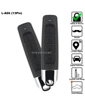 3 Pin 4-Button Multi Function Car Alarm System Made in Korea [13PIN]